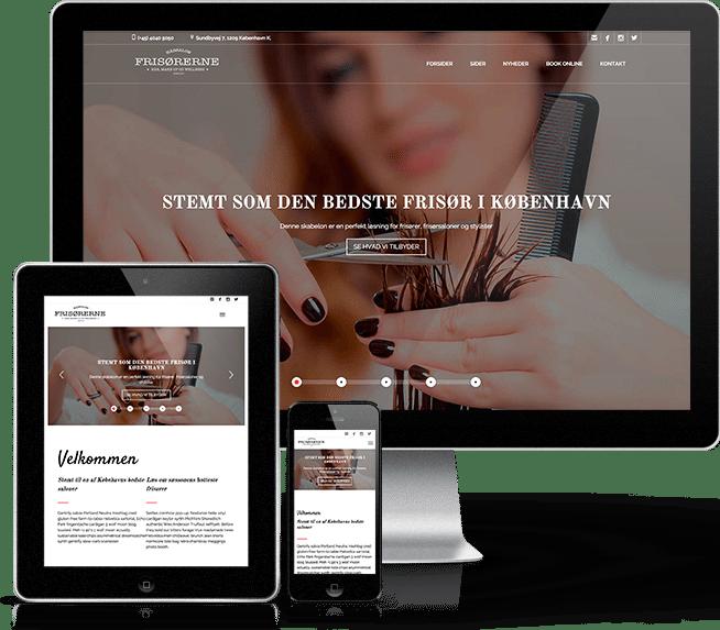 Ny hjemmeside til frisør