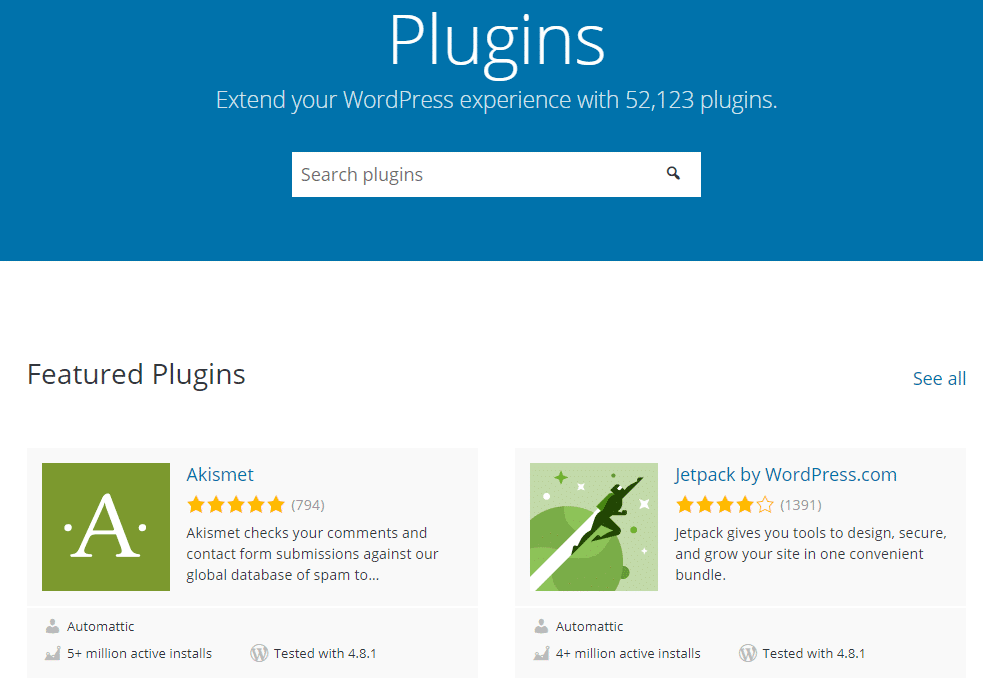 WordPress hjemmeside pris - vælg et plugin på WordPress