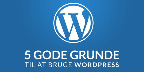 5 gode grunde til at bruge WordPress